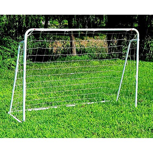 papasbox Locking Football Goal[8.0ft x 5.0ft] –| Ultimate Kids Garden Goals –|Weatherproof Pvc Pipe Plastic Goal
