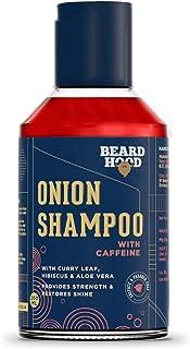 Beardhood Onion Shampoo With Caffeine For Hair Growth & Hairfall Control - Sulfate & Paraben Free, 200ml