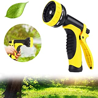 Dazzfond Garden Hose Nozzle Spray, Nozzle High Pressure, Heavy Duty 10 Adjustable Multi-Function Water Hose Nozzle for Washing Car,Showering Pets, Watering Plants,Slip and Shock Resistant