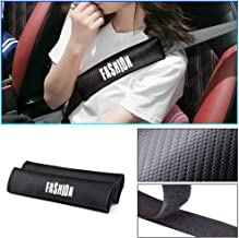 Longzhimei for TOYOTA Auris Aygo C-HR Corolla Hilux Prius RAV4 Car Safety Seat Belt Pads Shoulder Strap Cover Carbon Fiber Texture with Reflective Sticker Seat Belt Cover 2pcs