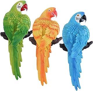 MIYU Decortaive Garden Animal Ornaments Parrot Figurine For Outdoor Indoor Decors (Color : Green)