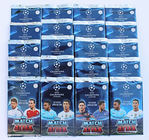 Topps Match Attax Champions League 2015/2016 - 20 Booster = 100 Karten
