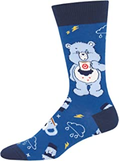 Socksmith Men's More Coffee Less Grumpy Care Bears Novelty Socks