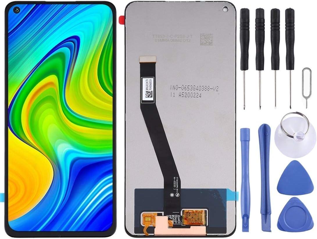 LISUONG DCD Pantalla LCD y digitalizador Asamblea ACD Completa for xiao-mi Mi/redmi Note 9 / redmi 10X 4G (Negro) (Color : Black)
