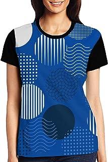 Drawn Background Womens Casual Crewneck T-Shirt