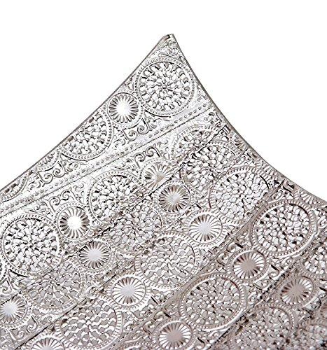 Burkina Home Decor 9016132Set di Gli da Tavolo, Metallo, Argento, 52x 27x 17cm