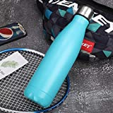 ZWWZ La Botella de Agua Deportiva,la Botella de Agua de Acero Inoxidable,Puede Mantenerse Caliente Durante 24 Horas,Adecuada para Viajes de Ejercicio en la Oficina.