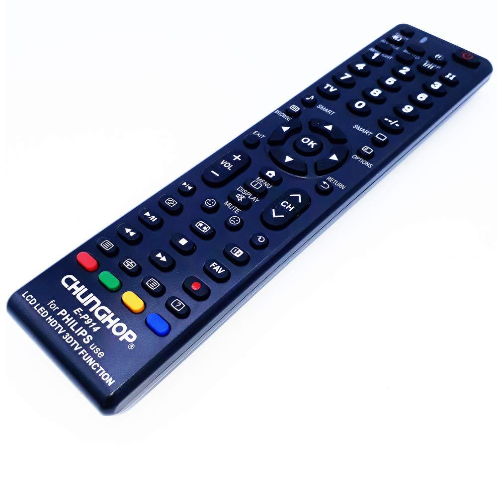 CEKATECH® Universal Remote E-P914 Compatible con TV Philips/LCD/LED/HDTV / 3DTV-Remote Control Reemplazo Compatible con Philips 50PUS6504/12: Amazon.es: Electrónica