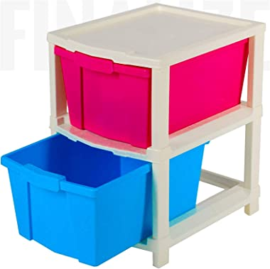 FINALIZE 2 Layer Plastic Multi-Purpose Modular Organizer Drawer System for Home,Office, Hospital, Parlor, School, Doctors, Ho