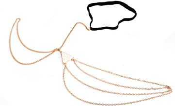Women gold Boho beach thigh leg tassel body turquoise chain metallic jewellery