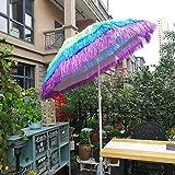 Sonnenschirm Im Freien Hawaii Sonnenschirm, Garten Terrasse Strandschirm Balkonschirm Kann Gefaltet Werden, 1,7m