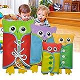 Pueri Peluches de Aprender Vestir para los Nios Juguetes de Material Montessori de Forma de Bho Juguetes Rompecabezas Educativos