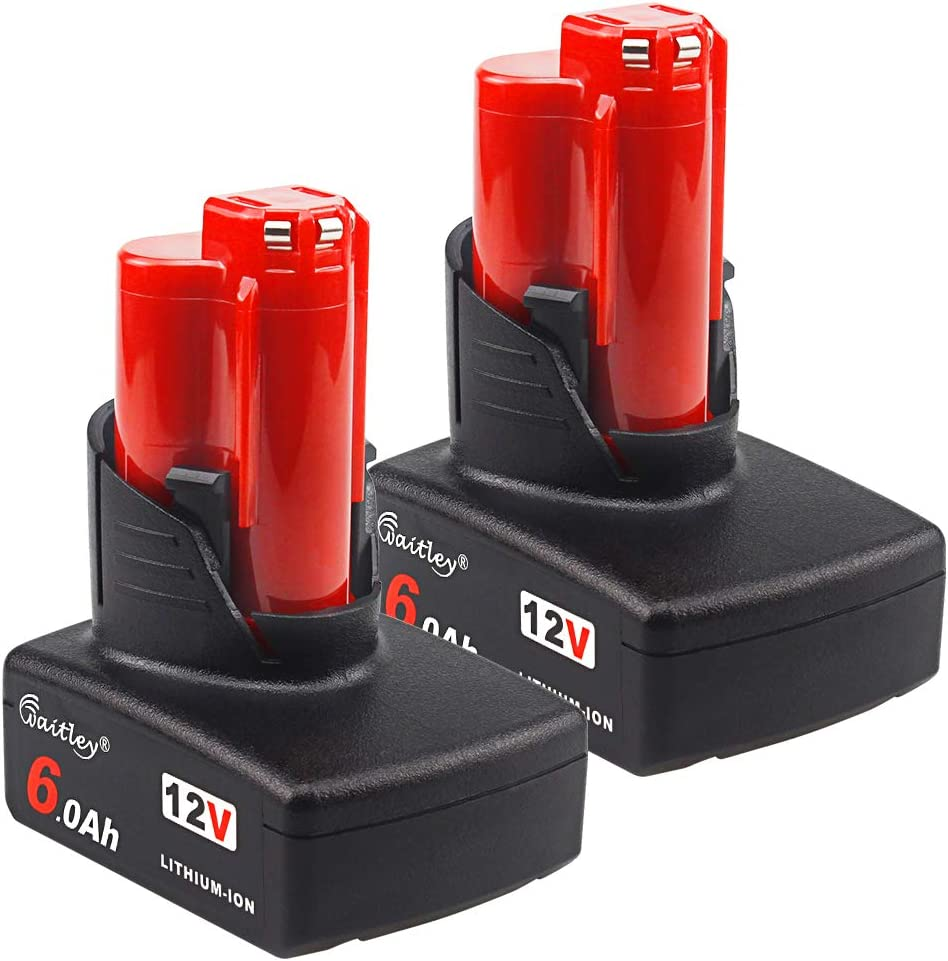 2Pack Aoyan M12 Portland Mall 12V 6.0Ah Today's only Lithium-ion Replacement Compat Battery