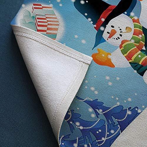 FaCaiTao Tovagliette,2021 Natale Pattern Stampa Cotton Pacon Food Home Hotel Decorative Western Prato-io_32 * 45cm.