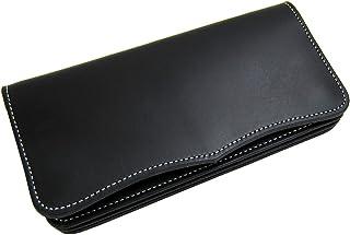 日本製 Maturi 国産 ヌメ革 長財布 ウォレット マトゥーリ MR-026 BK