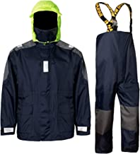 Navis Marine Coastal Sailing Jacket with Bib Pants Fishing Rain Suit Foul Weather Gear