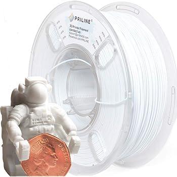 PRILINE 3Dプリンター用 PLAフィラメント【1kg 1.75mm】直径精度+/- 0.03mm、ホワイト