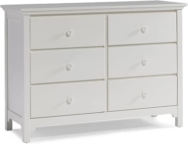 Ti Amo RTA 6 Drawer Double Dresser Snow White