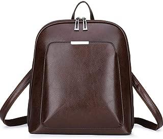 Asdfnfa Backpack, Geometric Fashion Women Backpack Luminous Ladies Rucksack Purse Lingge Fashion School Backpack Casual Daypacks Holographic (Color : Brown)