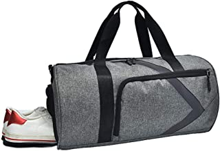 Reflective Strip Gym Bag Travel Bag with Wet Dry Storage and Shoes Compartment Waterproof & Durable Travel Duffle Bag for Sport Yoga Travel Fitness