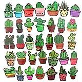 Rousa Kaktus-Aufkleber und Sukkulenten Aufkleber für Wasserflaschen, Handyhüllen, Laptops, Scrapbooking, 36 Stück