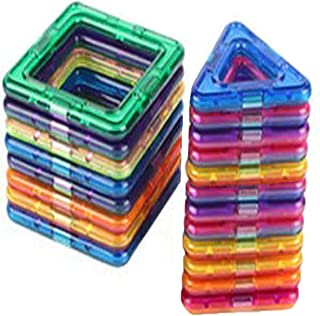 AOCKS 20pcs Magnetic Building Blocks Toys Educational Plastic Bricks Technic Designer Assembly Enlighten Blocks Construction Inspirational, Recreational, Educational Conventional (20 Multicolour)
