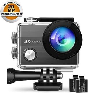 DBPOWER n5sカメラアクションカメラ4K WiFi 20MPスポーツカメラSonyセンサー付き、170広角Len防水水中カメラ