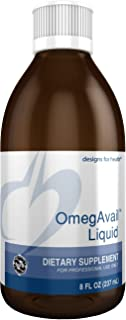 Designs for Health OmegAvail Liquid TG Fish Oil 1200mg - Triglyceride Omega-3 Fish Oil Brain Support Supplement with DHA/E...