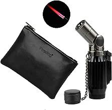 1300 Centigrade Windproof Cigar Cigarette Jet Quadruple Hot Pink Flame Butane Gas Torch Lighter