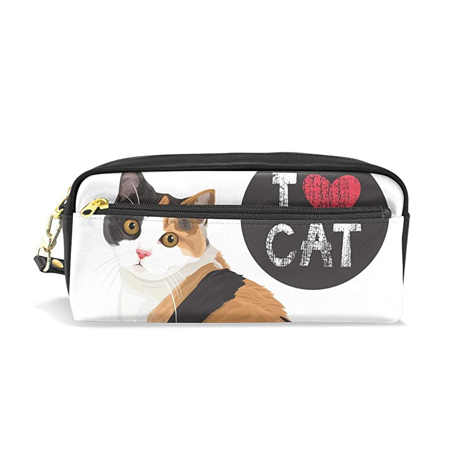 交流するしっとりマルコポーロAOMOKI ペンケース 小物入り 多機能バッグ ペンポーチ 化粧ポーチ おしゃれ かわいい 男女兼用 ギフト プレゼント 猫柄 可愛い猫