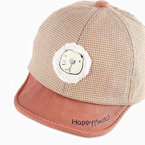 Sombrero bebé Nueva Caricatura Coreana algodón Puro ala Suave pequeño león Gorra para niños Primavera y Verano Sombrero para bebé