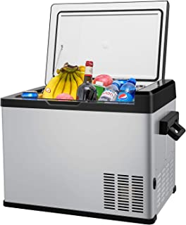 42 Quart Portable RV Refrigerator/Freezer Compact Vehicle Car Fridge Compressor Electric Cooler for Car,Truck,RV,Boat,Outdoor and Home use 12/24V DC and 90-250 AC,Cooling from 68°F to -13°F