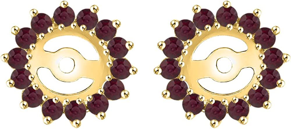 KATARINA Ruby Floral Earring Jackets in San Diego Mall 3 14K cttw 8 1 Gold Oklahoma City Mall