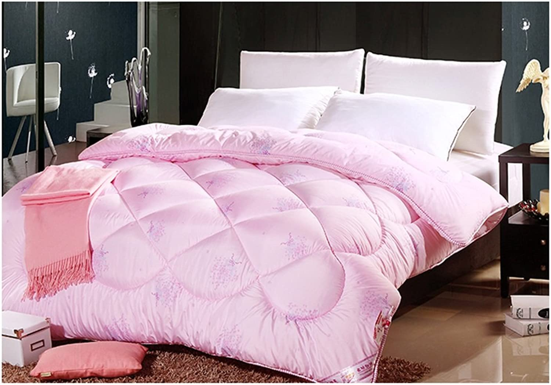 Courtepointe, Hiver Garder au chaud Plus épais Individuel Doux Doux Doux Home Textiles étudiant Chambre de dortoir Courtepointe de climatisation 150 × 200cm ( Couleur   Rose , taille   220240cm 6kg )