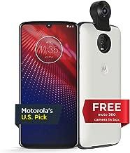 Moto Z4 – Unlocked – 128 GB – White (US Warranty) - Verizon, AT&T, T-Mobile, Sprint, Boost, Cricket, Metro - PAF60009US