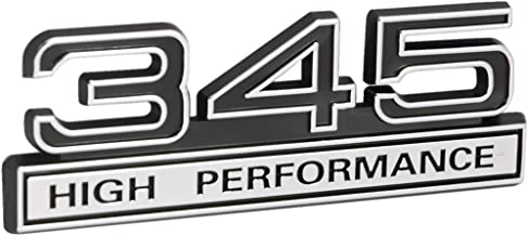 345 5.7 Liter High Performance Engine Emblem in Chrome & Black Trim - 4
