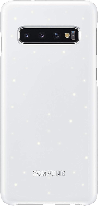 Samsung Galaxy S10 LED Back Case, White (EF-KG973CWEGUS)