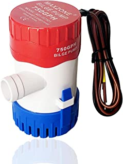 Submersible Boat Bilge Water Pump 12v 750gph Non-Automatic Marine Electric Bilge Pump for Ponds, Pools, Spas Silent, Boat ...