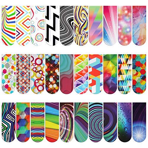 MWOOT 30 Stücke Magnetische Optische Lesezeichen,Seiten Clips Lesezeichen,Bunt Magnete Seiten Buchmarkierungen Set für Studenten Büro Lesen Briefpapier