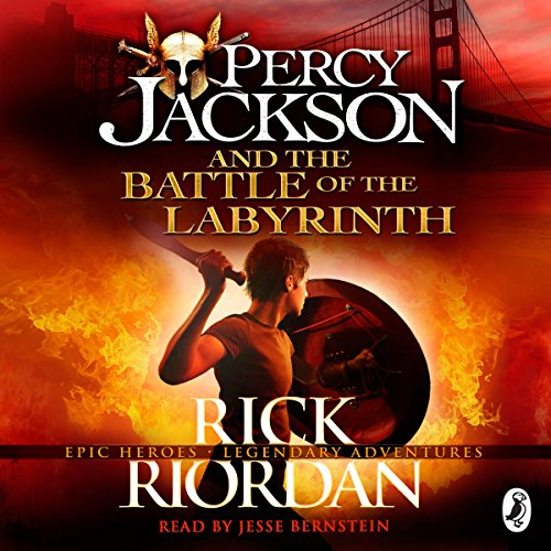 Percy Jackson and the Battle of the Labyrinth audiobook cover art