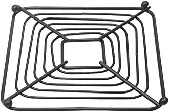 UPKOCH Cooking Rack Trivet Square Iron Art Hollow Baking Cooling Steaming Rack Cookware Stand Holder Heat Resistant Hot Po...