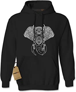 Elephant Animal Mandala Unisex Adult Hoodie