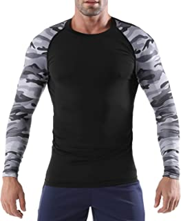 Men's Compression Shirt Dry Fit Long-Sleeve Athletic Sports Baselayer Top