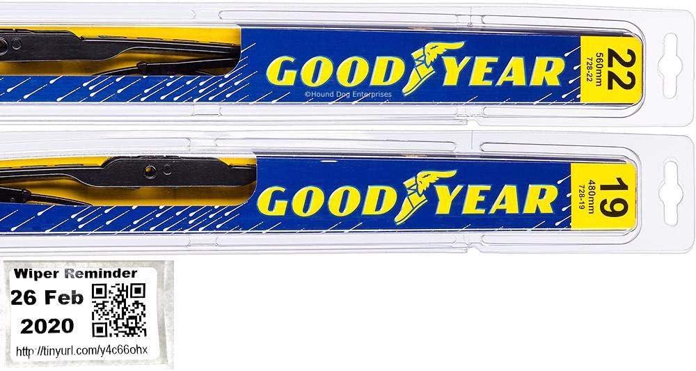 Premium - Windshield Wiper Blade Set for Max 72% Mesa Mall OFF Ca 2008-2013 Kit Bundle