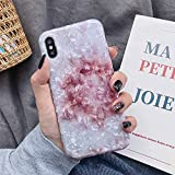 HUAI Caso de Shell Textura de la Flor del teléfono for el iPhone 11 Pro XR XS MAX 6 7 8 Plus 6S Suave IMD Dedo anular de Cristal Cubierta Trasera del teléfono (Color : N, Material : For iPhone 11)
