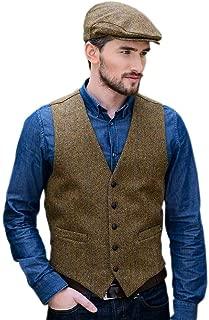 Tweed Vest for Men, Made in Ireland, 100% Irish Tweed, Brown