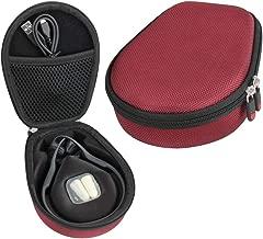 Hermitshell Travel Case Fits AfterShokz Trekz Air Open Ear Wireless Bone Conduction Headphones AS650 (Canyon Red)