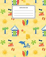 Composition Book: Surf Pattern Composition Book Lined Wide Rule Notebook for Boys Kids Back to School Preschool Kindergarten and Elementary Grades K-2