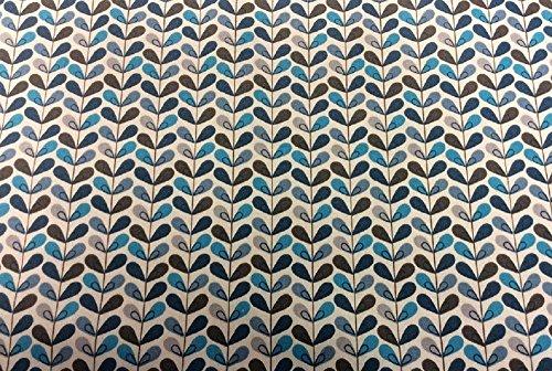 Swafing Beschichtete Baumwolle/Luna/Blätter türkis/Meterware/Tischdecke/Indoor/Outdoor