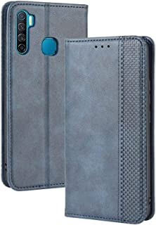 Case for Infinix S5,Leather Stand Wallet Flip Case Cover for Infinix S5,Retro magnetic Phone shell,Wallet phone case with ...